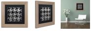 """Trademark Global Color Bakery 'Houndstooth Vi' Matted Framed Art, 11"""" x 11"""""""