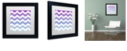 "Trademark Global Color Bakery 'Purple-Blue Chevron' Matted Framed Art, 11"" x 11"""