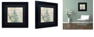"Trademark Global Color Bakery 'Pots Bleus I' Matted Framed Art, 11"" x 11"""