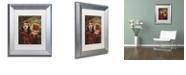 """Trademark Global Color Bakery 'Art Nouveau Zodiac Aries' Matted Framed Art, 11"""" x 14"""""""