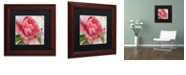 """Trademark Global Color Bakery 'Apricot Peonies Ii' Matted Framed Art, 11"""" x 11"""""""
