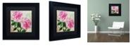 "Trademark Global Color Bakery 'Sonata I' Matted Framed Art, 11"" x 11"""
