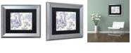 "Trademark Global Color Bakery 'Toile Fabrics Vi' Matted Framed Art, 11"" x 14"""