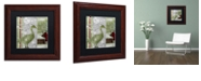 """Trademark Global Color Bakery 'Country Xmas Duck' Matted Framed Art, 11"""" x 11"""""""