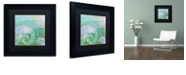 """Trademark Global Color Bakery 'Painted Sea I' Matted Framed Art, 11"""" x 11"""""""