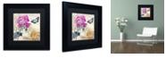 "Trademark Global Color Bakery 'Petals Of Paris Iii' Matted Framed Art, 11"" x 11"""