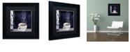 """Trademark Global Color Bakery 'Cafe Blue Iv' Matted Framed Art, 11"""" x 11"""""""