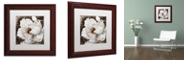 "Trademark Global Color Bakery 'Fleurs Blanc Iii' Matted Framed Art, 11"" x 11"""