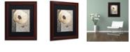 "Trademark Global Color Bakery 'Poppy Brocade I' Matted Framed Art, 11"" x 14"""