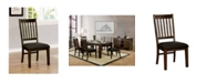 Furniture of America Tobias Slatted Back Dining Chair (Set of 2)