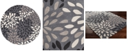 Surya Cosmopolitan COS-9263 Charcoal 8' Round Area Rug