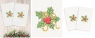Linum Home Christmas Holly Bunch 100% Turkish Cotton 2-Pc. Hand Towel Set