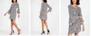 MSK Animal-Print Bell-Sleeve Shift Dress