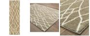 "Oriental Weavers Verona Shag 560J Taupe/Ivory 2'3"" x 7'6"" Runner Area Rug"