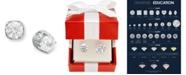 Macy's Diamond Spiral Bezel Stud Earrings in 14k White Gold (2 ct. t.w.)