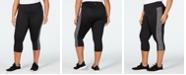 Ideology Plus Size Colorblocked Capri Leggings, Created for Macy's