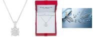 "Macy's Diamond Halo 18"" Pendant Necklace (1/3 ct. t.w.)"