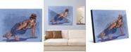 "Creative Gallery Yoga Pose Two in Blue 24"" x 36"" Acrylic Wall Art Print"