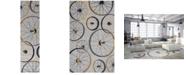 """Kas Sonesta Wheels In Motion 2035 Gray 2' x 7'6"""" Runner Area Rug"""