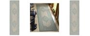 "Safavieh Courtyard Light Grey and Aqua 2'3"" x 8' Sisal Weave Runner Area Rug"