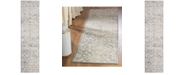 Safavieh Brentwood Light Grey and Blue 2' x 8' Runner Area Rug