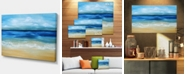 "Design Art Designart Warm Tropical Sea And Beach Seascape Canvas Art Print - 32"" X 16"""