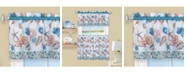 Achim Coastal Tier and Valance, Window Curtain Set, 58x24