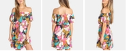 Billabong Juniors' Both Ways Printed Off-The-Shoulder Dress