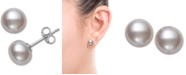 Belle de Mer Cultured Freshwater Pearl (7mm) Stud Earrings in Sterling Silver