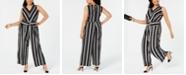 f7ccde7b5934 INC International Concepts I.N.C. Plus Size Sleeveless Striped Jumpsuit