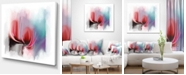 """Design Art Designart Red Abstract Flower Illustration Extra Large Floral Wall Art - 40"""" X 30"""""""