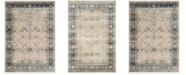"""Safavieh Persian Garden Vintage Ivory and Navy 5'1"""" X 7'7"""" Area Rug"""