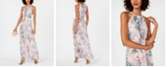 INC International Concepts INC Pleated Floral-Print Maxi Dress, Created for Macy's