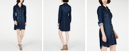 INC International Concepts INC Petite Denim Shirtdress, Created for Macy's