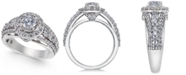 Macy's Diamond Halo Statement Ring (1-1/2 ct. t.w.) in 14k White Gold