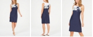 Charter Club Petite Floral-Print Shift Dress, Created for Macy's