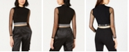 Waisted Contrast Crop Top