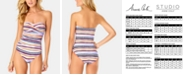 Anne Cole Stormy Seas Strapless One-Piece Swimsuit