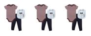 Little Treasure Bodysuits, Pants and Bibs Set