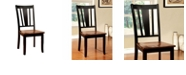 Benzara Transitional Side Chair with Wooden Seat - Set Of 2