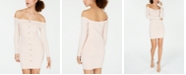 Material Girl Juniors' Button-Trimmed Off-The-Shoulder Dress, Created for Macy's
