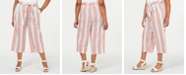 Tommy Hilfiger Plus Size Striped Pull-On Capris, Created for Macy's