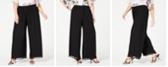 Alex Evenings Plus Size Wide-Leg Chiffon Pants
