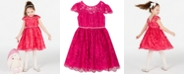 Rare Editions Little Girls Scalloped Embroidered Dress