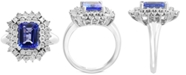 EFFY Collection EFFY® Tanzanite (2-1/10 ct. t.w.) & Diamond (1/5 ct. t.w.) Ring in 14k White Gold