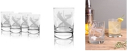 Rolf Glass Dragonfly Double Old Fashioned 14Oz - Set Of 4 Glasses