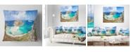 "Design Art Designart 'Balos Beach At Crete Island Greece' Oversized Beach Throw Pillow - 16"" x 16"""