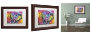 """Trademark Global Dean Russo 'Psychedelic Lab' Matted Framed Art - 14"""" x 11"""" x 0.5"""""""