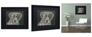 "Trademark Global Dean Russo 'Love Thy Boxer' Matted Framed Art - 16"" x 20"" x 0.5"""