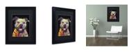 "Trademark Global Dean Russo 'Beware of Pit Bulls' Matted Framed Art - 11"" x 14"" x 0.5"""